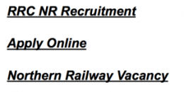 northern railway recruitment apprentice 2017 2018 vacancy railway recruitment cell rrc nr vacancy application from act
