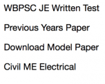 wbpsc je previous years question paper download solved old model junior engineer civil electrical mechanical practice mcq written test set sample question paper solution answer key solved set pdf