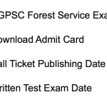 CGPSC Forest Service Admit Card 2018 Exam Date Chhattisgarh