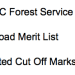 CGPSC Forest Service Result 2017 2018 Cut Off Marks Merit List