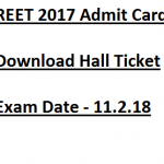 REET Admit Card 2017 Download Hall Ticket rajeduboard.rajasthan.gov.in