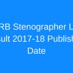 ASRB LDC Result 2018 Stenographer Cut Off Marks Merit List Date