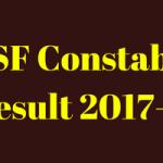 BSF Constable Result 2018 Tradesman Merit List Cut Off Marks