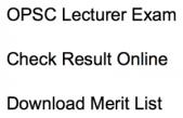 opsc lecturer result 2018 merit list download check result online odisha public service commission polytechnic college technical