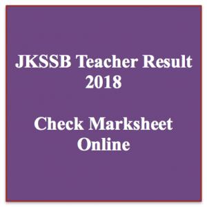 jkssb teacher result 2018 jammu and kashmir general teacher result 2018 merit list check online exam cut off marks expected