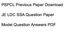 pspcl previous years question paper download solved pdf set solution junior engineer lower division clerk ldc