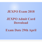 JEXPO Admit Card 2018 Download WBSCTE JEXPO Entrance Exam