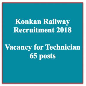 konkan railway recruitment 2018 vacancy for technician electrician posts apply online