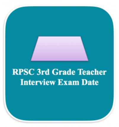 rpsc 3rd grade teacher admit card 2018 download hall ticket written test interview call letter
