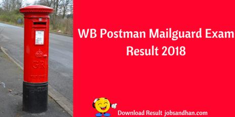 wb postman result 2018 west bengal postal circle cut off marks merit list publishing date