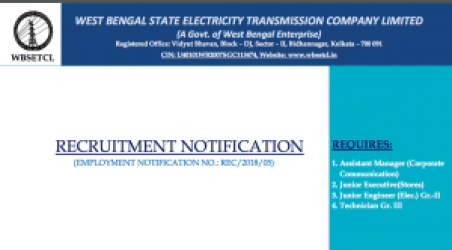 wbsetcl technician exam date 2018 download admit card
