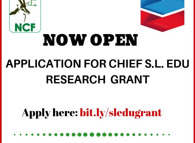 Nigerian Conservation Foundation Chevron Nigeria Chief S.L Edu Research Grant jobsandschools