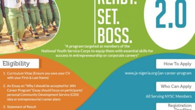 Photo of JAN Career Program 2019 for National Youth Service Corps (NYSC) members