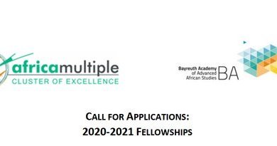 Photo of Call for Application: 2020/2021 Africa Multiple Cluster of Excellence Fellowships at the University of Bayreuth (Germany)