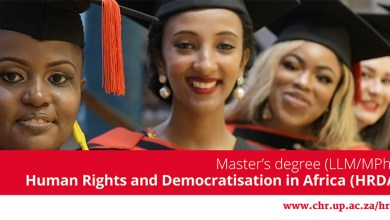 Photo of Master's degree (LLM/MPhil) in Human Rights and Democratisation in Africa Scholarships 2020