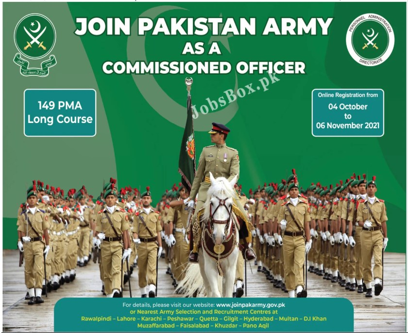 Join Pak Army as Commissioned Officer Jobs 2021