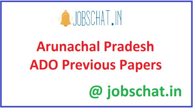 Arunachal Pradesh ADO Previous Papers