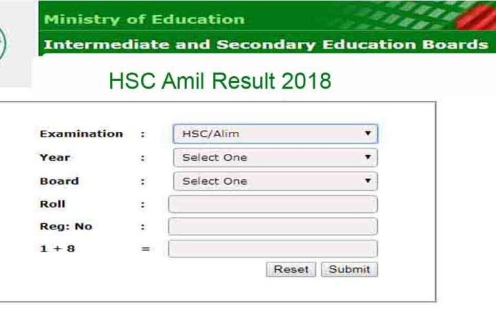 HSC Alim Result 2018