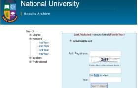 National University Job Circular 2019