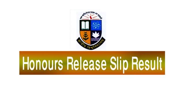 Honours Release Slip Result 2019