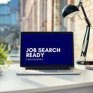 Job Search Ready -laptop at desk - preview