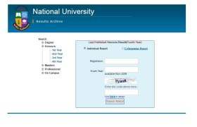 NU Honours 4th Year Result 2019