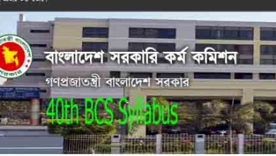 40th BCS Syllabus