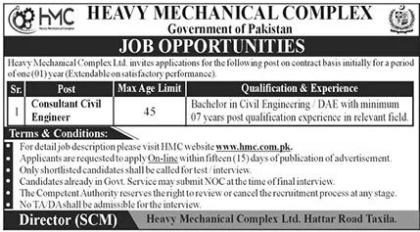 Heavy Mechanical Complex HMC Jobs 2021