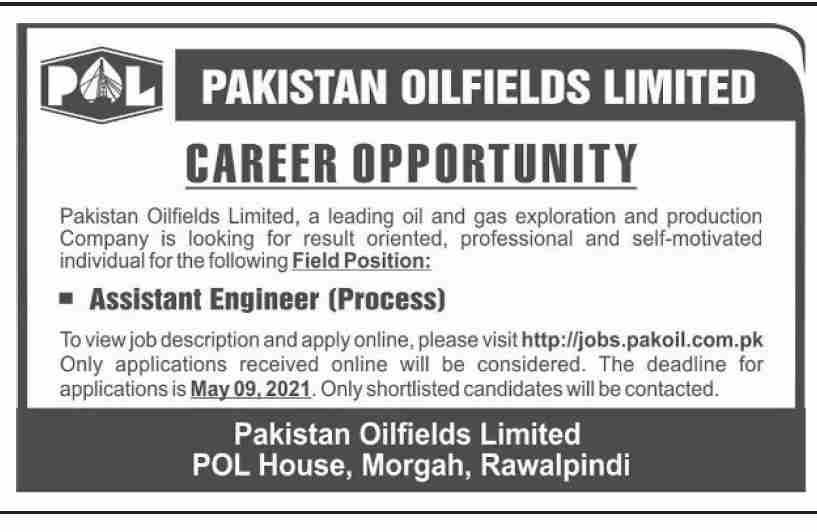 Pakistan Oilfields Limited Rawalpindi POL Jobs 2021