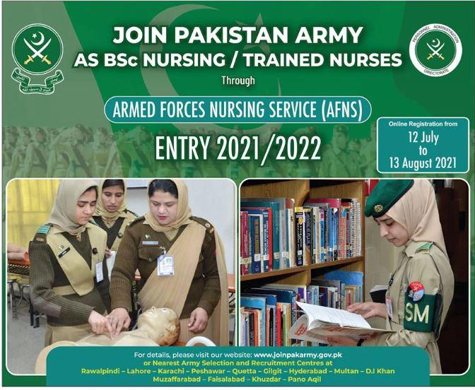 Armed Forces Nursing Service AFNS Jobs 2021