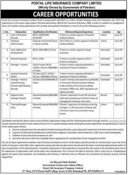 Pakistan Post Office Jobs 2021 Advertisement