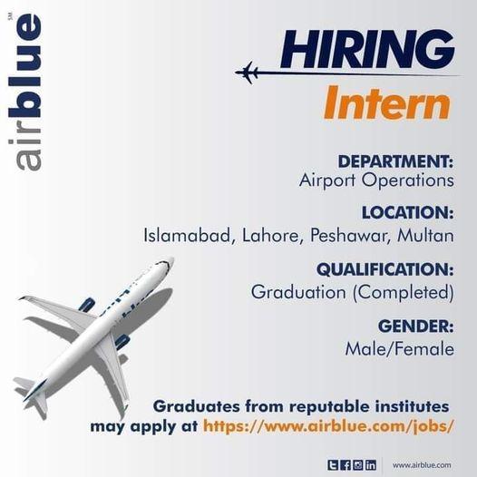 Air Blue Jobs 2021 for Latest Air Blue Careers