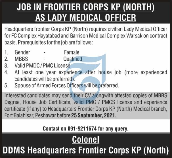 FC Jobs 2021 - Frontier Corps Jobs Advertisement