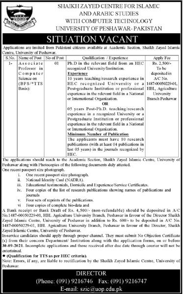 University of Peshawar UOP Jobs 2021