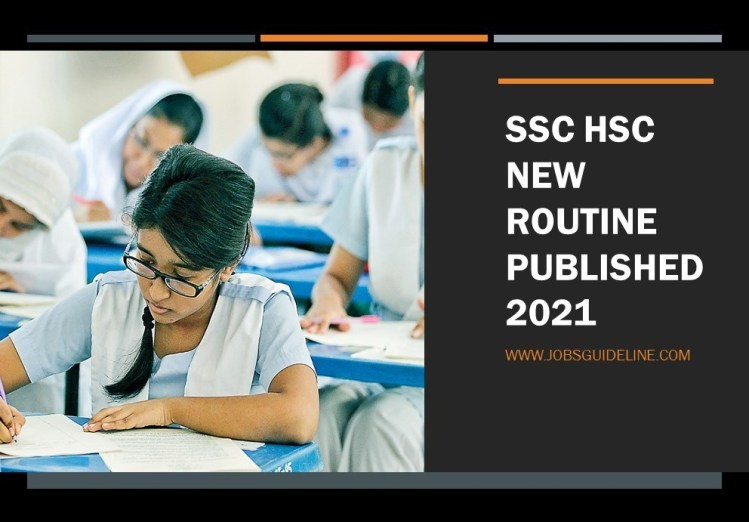 SSC HSC New Routine Published 2021