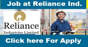 Job Vacancies at Reliance Industries