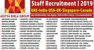Aditya Birla Group Staff Recruitment