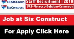 Job Vacancies at Six Construct