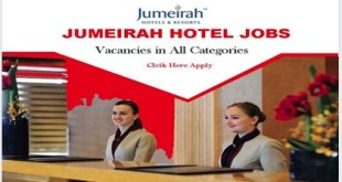 MANY JOB VACANCIES @ JUMEIRAH HOTELS & RESORTS