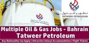 Latest Job Openings at Tatweer Petroleum Bahrain