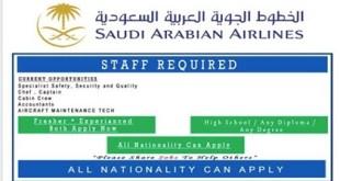NEW JOBS @ SAUDI AIRLINES