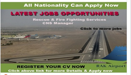 Latest Jobs @ Ras Al Khaimah International Airport