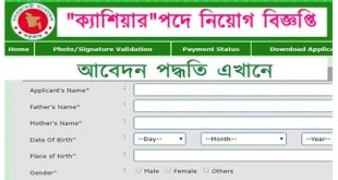 Cashier in Jobs Circular