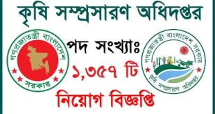Ministry of Agricultural Job Circular 2019