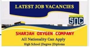 LATEST JOB VACANCIES AT SHARJAH OXYGEN COMPANY