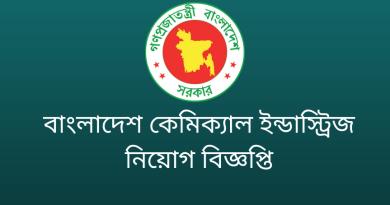 Government Job Circular at BCIC