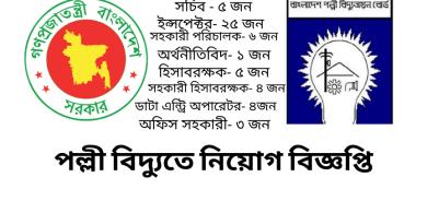 Bangladesh Palli Bidyut Job Circular