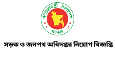 Government Job Circular at Department of Roads and Highways