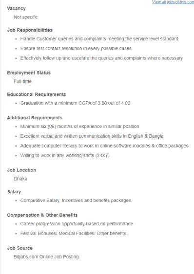Estern Bank Job circular