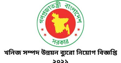 Bureau of Mineral Resources Development Job Circular